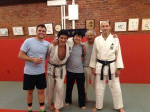 ↑ニューヨークの Oishi Judo Club にて